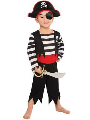 Kids Pirate Costume Toddler Deckhand Captain Hook Fancy Dress Boys Girls Outfit • 10.49£
