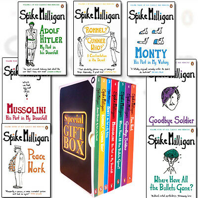 Spike Milligan War Memoirs Collection 7 Books Pack Set Gift Wrapped Slipcase NEW • 49.99£