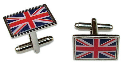 £4.99 • Buy Union Jack Flag Cufflinks Uk Gb Badge Mens Gents Ladies Novelty In Gift Pouch