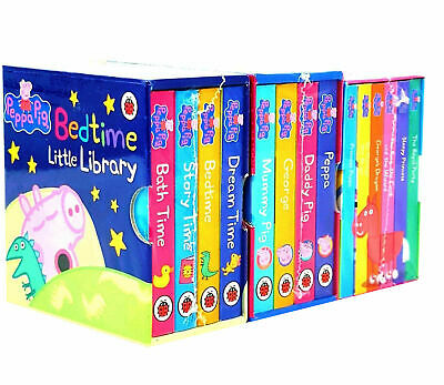 Peppa Pig Bedtime Little Library 14 Books Collection Set Children's Pack NEW • 19.99£