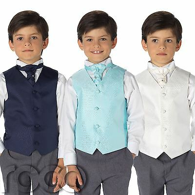 £19.99 • Buy Boys Waistcoat Suits, Page Boy Suits, Wedding Suits, Boys Suits, Grey Trousers