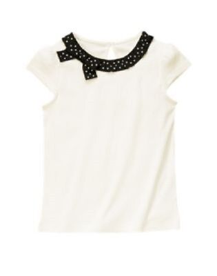 $13.99 • Buy Gymboree Bee Chic Top 4 5 7 New Ivory & Black Polka Dot Ribbon Shirt Girls Twin