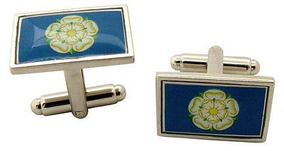 £4.99 • Buy Yorkshire York Flag Badge Cufflinks Mens Gents Novelty In Gift Pouch