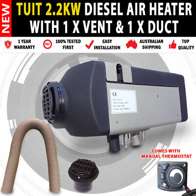 AU8100 • Buy NEW Planer 12v 2KW Diesel Heater 1 X Vent Duct Thermostat Camping Motorhome RV