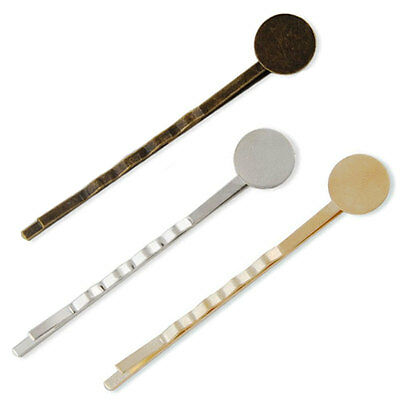 £1.99 • Buy BOBBY HAIR Pins Slides Grips Blanks Pad Findings Bronze Rose Gold Silver Clips