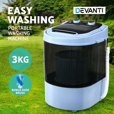 AU99.95 • Buy Devanti 3KG Mini Portable Washing Machine Shoes Wash Top Load Spin Camp Caravan