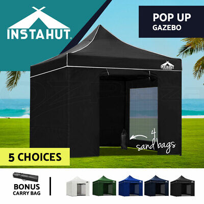 AU159.90 • Buy Instahut Gazebo Pop Up Marquee 3x3 Outdoor Camping Gazebos Tent Wedding Folding