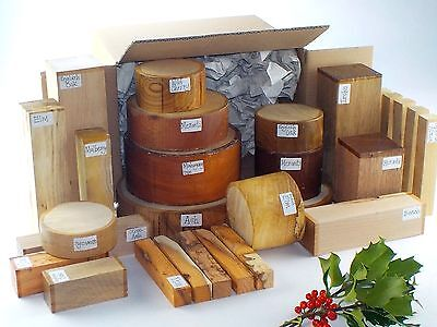 Wood Turning Blanks Gift Selection Pack.  Box Of Mixed Sizes And Species.  75 • 79£