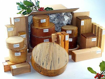 Superior Wood Turning Blanks Gift Selection Pack.  Mixed Sizes And Species. 90 • 115£