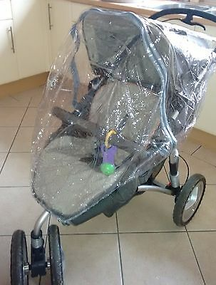 Raincover To Fit Graco Fast Action Fold Dlx Travel System Pushchair • 13.99£