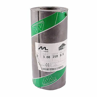 210mm 8  Inch Code 3 Lead Flashing Roll Roof Roofing Repair Midland Lead • 22.21£