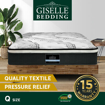 AU289.90 • Buy Giselle Bedding QUEEN Mattress Bed Size Euro Top Pocket Spring Foam 32CM