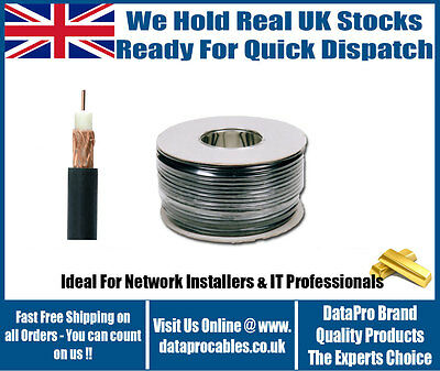 £22.99 • Buy 100m SINGLE HEAVY DUTY RG59 Coaxial CCTV Security Camera CABLE Lead WIRE ROLL UK