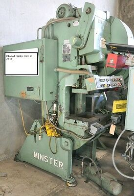 $8000 • Buy 32 Ton Minster Open Back Inclinable Press, #4, Planet Machinery Stock #3949