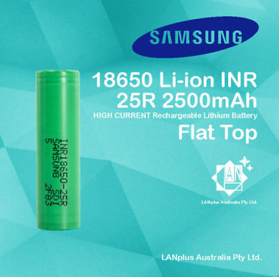 AU64.99 • Buy Samsung 18650 25R 2500mah Lithium Rechargeable Battery High Drain 20A Flat Top
