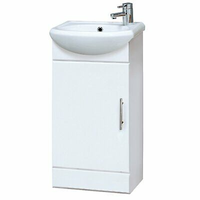 £92.95 • Buy Nuie Sienna Floor Standing Vanity Unit With Basin 400mm Gloss White 1 Taphole