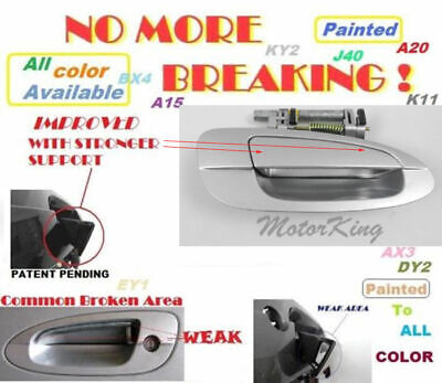 $19.76 • Buy MotorKing Door Handle For NISSAN ALTIMA Outside Front Right KY1 Silver B3766