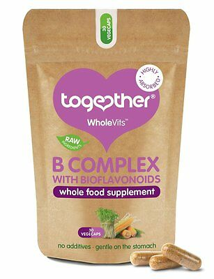 £8.40 • Buy Together Wholevits - Vitamin B Complex With Bioflavonoids 30 Capsules *Vegan*