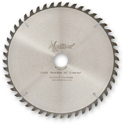 £23.98 • Buy Axcaliber Contract TCT Saw Blade Thin Kerf - 254mm X 2.1mm X 30mm 48T