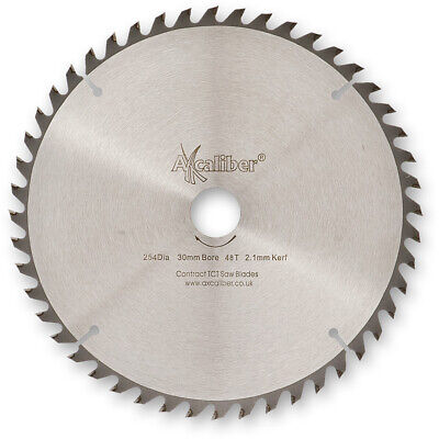 £25.28 • Buy Axcaliber Contract TCT Thin Kerf Saw Blade - 254mm X 2.1mm X 30mm T48