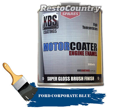 AU74.90 • Buy KBS Motor Coater Engine Enamel 500ml FORD CORPORATE BLUE 1967-on High Temp Paint