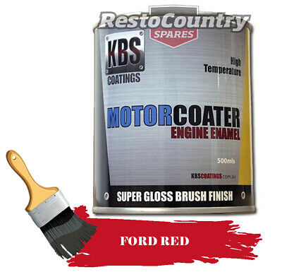 AU74.90 • Buy KBS Motor Coater Engine Enamel 500mls FORD T-BIRD RED High Temperature Paint