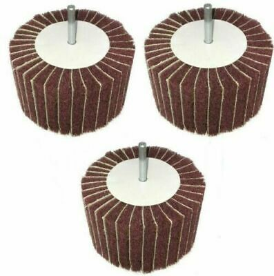 10pc 25mm X 25mm Sandpaper Rotary Wheel Disc Flap Abrasive Buffing Sanding Drum • 8.25£
