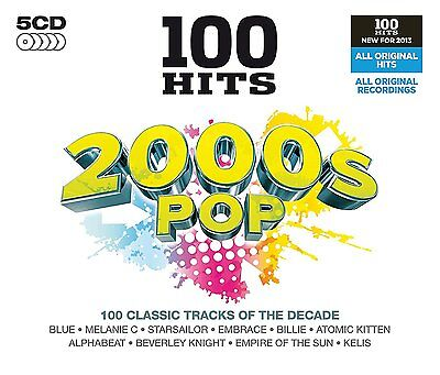 £8.99 • Buy 100 GREATEST HITS 2000s NEW SEALED 5CD BOX SET In Stock Now, Gift Idea