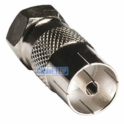 £1.75 • Buy FEMALE COAX SOCKET To F TYPE MALE PLUG TV Aerial Sky Connector Adapter