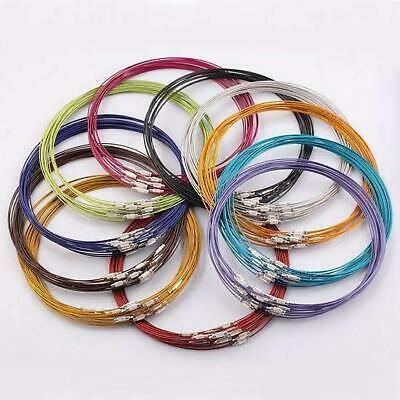5 Or 10 X 25cm MEMORY WIRE BRACELET / BANGLE & CLASP READY MADE COLOUR CHOICE • 2.99£