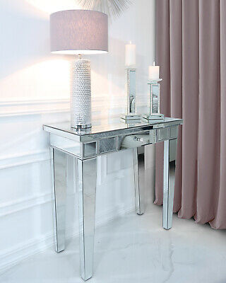 £195.95 • Buy Classic Mirror Contemporary Glass Venetian 1 Drawer Console Hall Dressing Table