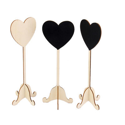 £4.99 • Buy 10x Wooden Heart Blackboard Table Numbers Stand Decor Wedding Party Favors