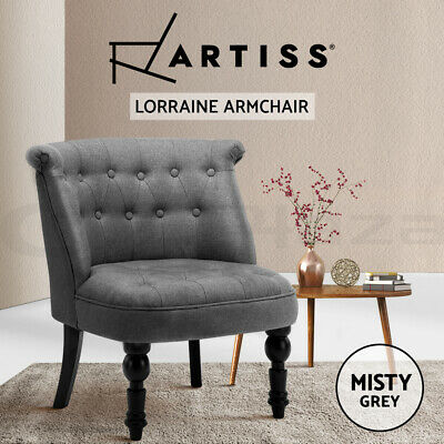 AU125.95 • Buy Artiss Lorraine Chair Dining Accent Sofa Lounge Armchair Tub French Provincial