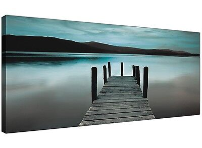 Teal Derwent Water Jetty - Lake District Canvas Art • 44.99£