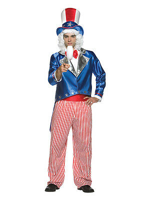 Standard Mens Uncle Sam American Army Advert Fancy Dress Adult Costume Outfit BN • 21.99£