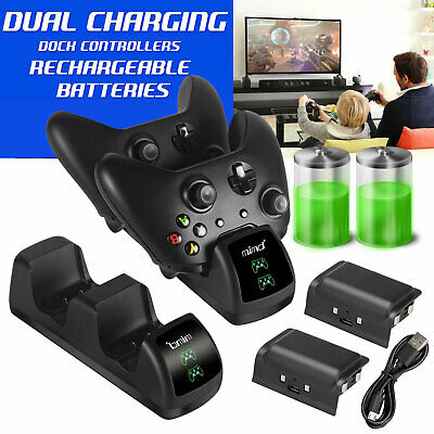 $17.97 • Buy For Xbox One/One S/One X Controller Charger Dual Charging Dock Station W/Battery