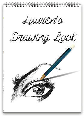 A4 Personalised Sketch Book /personalised Drawing Pad/a4 Notebook/ Note Pad A4  • 8.88£