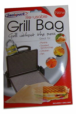 Re-usable Grill Bag Great For Paninis Sandwiches Chicken Fish - Locks In Flavour • 2.49£