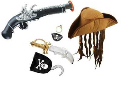 Childrens Boys Girls Pirate Buccaneer Fancy Dress Costume Accessories  • 4.95£