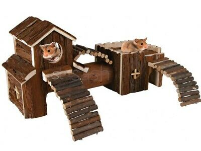 £114.95 • Buy Natural Wooden Hamster Mouse Gerbil Playground Rats Pets Toys Play House Tunnel