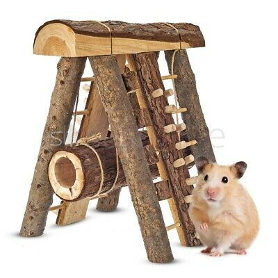 £119.95 • Buy Natural Wooden Hamster Mouse Gerbil Playground Rats Pets Toys Play House Tunnel