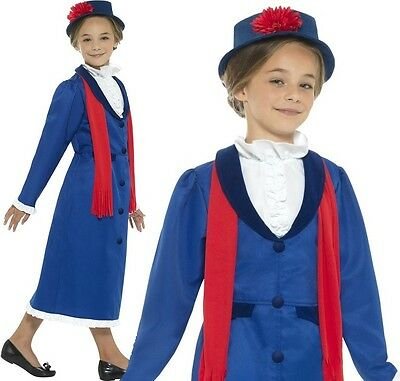 £17.99 • Buy Childrens Girls Victorian Nanny Fancy Dress Costume Childs Book Day Outfit