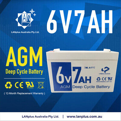 AU28.99 • Buy New 6V 7AH SLA Rechargeable AGM Battery For UPS APC Alarm Toy Car 7.0ah CP670