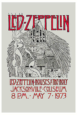 $12 • Buy  Led Zeppelin  * Houses Of Holy *  Florida Concert Poster 1973   12x18