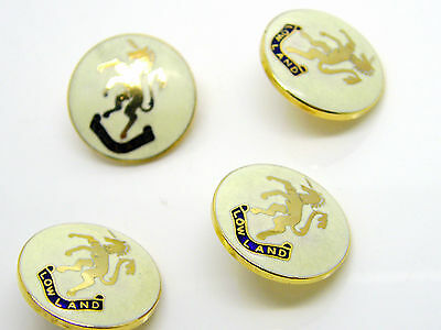 £2.99 • Buy 4 Of Vintage Queens Scottish Lowland Enamel Army Type Buttons