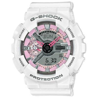 $ CDN116.71 • Buy Casio Women's Watch G-Shock S Series Pink & Grey Dial White Strap GMAS110MP-7A