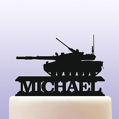 £12.99 • Buy Personalised Acrylic Army Battle Tank Cake Topper Decoration