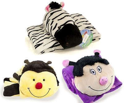 £7.99 • Buy My Pillow Pets Character Fleece Childrens Throw    3 Types Available    BNWT