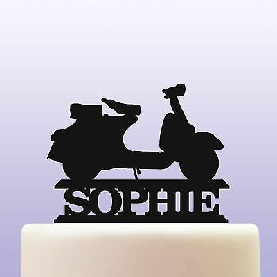 Personalised Acrylic Scooter Motorcycle Cake Topper Decoration • 12.99£