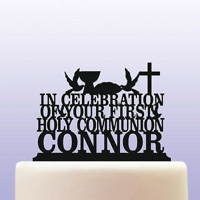 Personalised First Holy Communion Acrylic Cake Topper Decoration • 12.99£